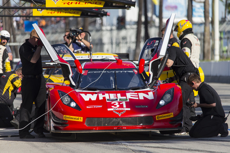 tudor: Long Beach, CA - Apr 17, 2015:  The Tudor United SportsCar Championship teams take to the track for the Tequila Patron Sports Car Racing Showcase at Long Beach Grand Prix in Long Beach, CA.