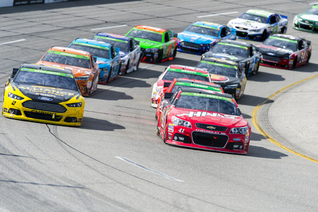 va: Richmond, VA - Apr 26, 2015:  The NASCAR Sprint Cup Series teams take to the track for the Toyota Owners 400 at Richmond International Raceway in Richmond, VA. Editorial