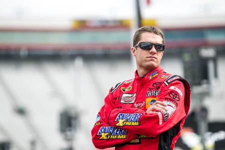 nscs: Bristol, TN - Apr 17, 2015:  David Ragan (18) watches practice for the Food City 500 at Bristol Motor Speedway in Bristol, TN.