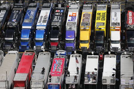 nascar: Bristol, TN - Apr 17, 2015:  The NASCAR Sprint Cup Series teams take to the track for the Food City 500 at Bristol Motor Speedway in Bristol, TN.