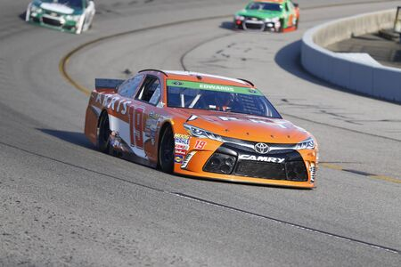 va: Richmond, VA - Apr 24, 2015:  Carl Edwards (19) qualifies 18th for the Toyota Owners 400 race at the Richmond International Raceway in Richmond, VA. Editorial