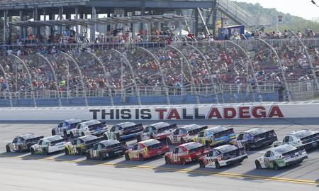 nascar: Talladega, AL - May 02, 2015:  The NASCAR Xfinity Series teams take to the track for the Winn-Dixie 300 at Talladega Superspeedway in Talladega, AL.