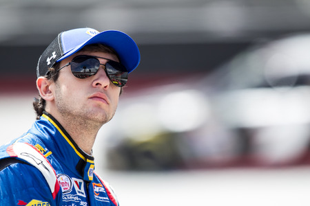 tn: Bristol, TN - Apr 17, 2015:  Chase Elliott (9) watches practice for the Drive to Stop Diabetes 300 at Bristol Motor Speedway in Bristol, TN. Editorial