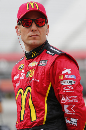 tn: Bristol, TN - Apr 17, 2015:  Jamie McMurray (1) watches practice for the Food City 500 at Bristol Motor Speedway in Bristol, TN.