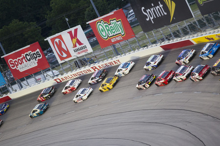 brandt: Darlington, SC - Sep 06, 2015:  The NASCAR Sprint Cup Series teams take to the track for the Bojangles Southern 500 at Darlington Raceway in Darlington, SC. Editorial
