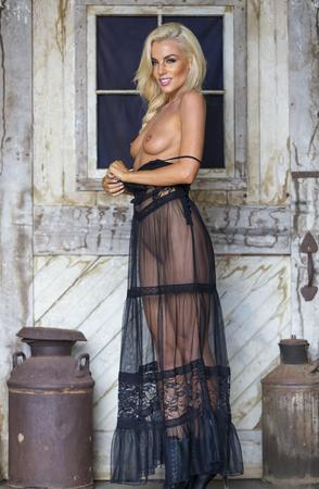 Eine weibliche Model posiert in erotischen Stellungen Standard-Bild - 46956575