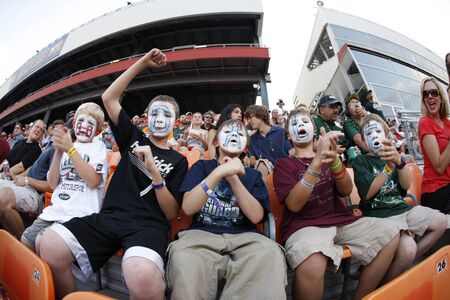 nc: CONCORD, NC - MAY 29, 2011:  NASCAR fans show their support for their favorite team during the Coca-Cola 600 race at the Charlotte Motor Speedway in Concord, NC. Editorial