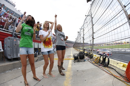 nascar: CONCORD, NC - MAY 29, 2011:  NASCAR fans show their support for their favorite team during the Coca-Cola 600 race at the Charlotte Motor Speedway in Concord, NC. Editorial
