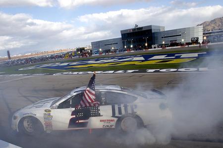 nv: Las Vegas, NV - Mar 06, 2016: Brad Keselowski (2) wins the Kobalt 400 at the Las Vegas Motor Speedway in Las Vegas, NV.