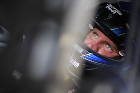 commander: Ft. Worth, TX - Apr 08, 2016: Clint Bowyer (15) practices for the Duck Commander 500 at the Texas Motor Speedway in Ft. Worth, TX. Editorial