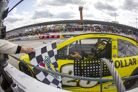 speaks: Dover, DE - May 15, 2016: Matt Kenseth (20) wins the the AAA 400 Benefiting Autism Speaks  at the Dover International Speedway in Dover, DE. Editorial