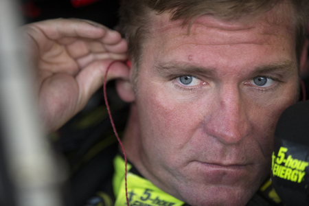 nc: Concord, NC - May 28, 2016: Clint Bowyer (15) gets ready to practice for the Coca-Cola 600 at the Charlotte Motor Speedway in Concord, NC.