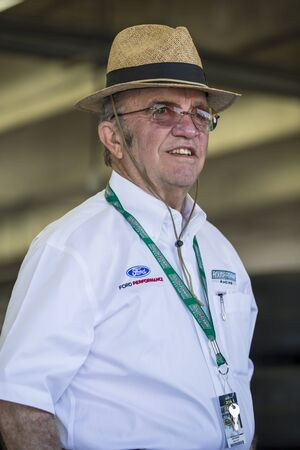 Concord, NC - May 28, 2016: Jack Roush hangs out in the garage during practice for the Coca-Cola 600 at the Charlotte Motor Speedway in Concord, NC.