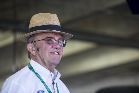 nscs: Concord, NC - May 28, 2016: Jack Roush hangs out in the garage during practice for the Coca-Cola 600 at the Charlotte Motor Speedway in Concord, NC.