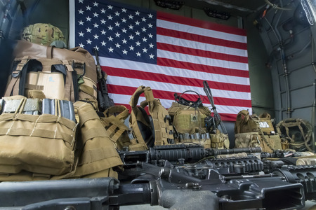 flak: Military equipment aboard a helicopter Editorial
