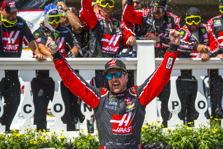 nscs: Long Pond, PA - Jun 06, 2016: Kurt Busch celebrates his win in Victory Lane  during the Axalta We Paint Winners 400 weekend at the Pocono Raceway in Long Pond, PA.
