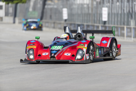 motorsports: The Performance Tech Motorsports ORECA FLM09 races through the turns at the Detroit Grand Prix at Belle Isle Park in Detroit,MI.