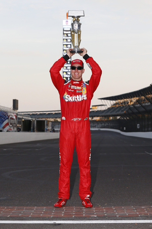 kyle: Speedway, IN - Jul 24, 2016: Kyle Busch (18) wins the Combat Wounded Coalition 400 at the Indianapolis Motor Speedway in Speedway, IN.