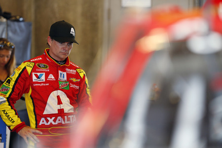 Speedway, IN - Jul 22, 2016: Jeff Gordon (88) hangs out in the garage during practice for the Combat Wounded Coalition 400 at the Indianapolis Motor Speedway in Speedway, IN. Editorial