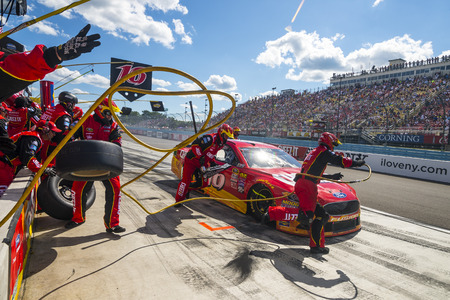roush: Watkins Glen, NY - Aug 07, 2016: Greg Biffle brings the #16 Cheez-It Ford into the pits for maintenance  during the CHEEZ-IT 355 at the Glen weekend at the Watkins Glen International in Watkins Glen, NY.