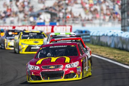 Watkins Glen, NY - Aug 07, 2016: Jamie McMurray leads the pack in the McDonald�s Chevy  during the CHEEZ-IT 355 at the Glen weekend at the Watkins Glen International in Watkins Glen, NY. Editorial