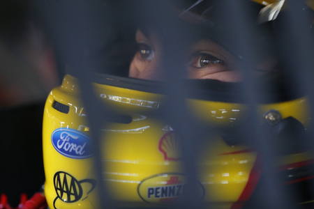 joey: Loudon, NH - Sep 24, 2016: Joey Logano (22) gets ready to practice for the Bad Boy Off Road 300 at the New Hampshire Motor Speedway in Loudon, NH.
