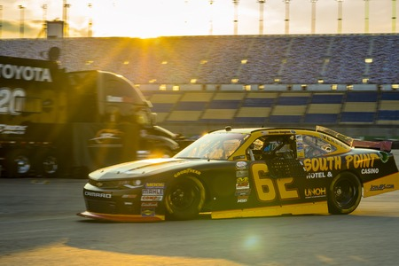 chevy: Sparta, KY - Sep 23, 2016: Brendan Gaughan drives the #62 South Point Chevy onto the track  during the VisitMyrtleBeach.com 300 weekend at the Kentucky Speedway in Sparta, KY. Editorial