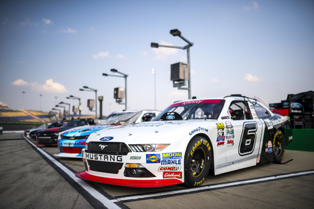 roush: Sparta, KY - Sep 24, 2016: The #6 Bleacher Report Ford of Darrell Wallace Jr. waits for action  during the VisitMyrtleBeach.com 300 weekend at the Kentucky Speedway in Sparta, KY. Editorial