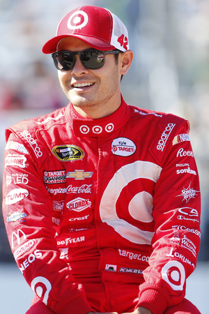 nscs: Loudon, NH - Sep 25, 2016: Kyle Larson (42) gets ready for the Bad Boy Off Road 300 at the New Hampshire Motor Speedway in Loudon, NH.