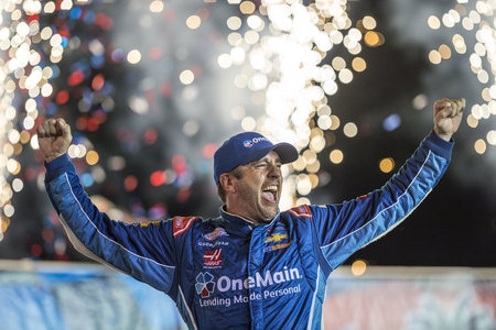 sep: Sparta, KY - Sep 24, 2016: Elliott Sadler celebrates his win in Victory Lane  during the VisitMyrtleBeach.com 300 weekend at the Kentucky Speedway in Sparta, KY.