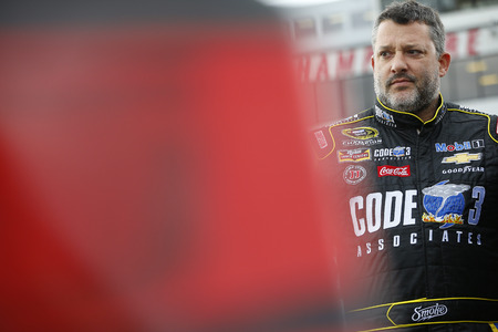 Loudon, NH - Sep 23, 2016: Tony Stewart (14) gets ready to qualify for the Bad Boy Off Road 300 at the New Hampshire Motor Speedway in Loudon, NH.