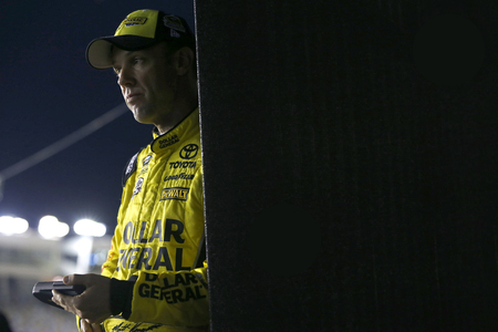 nc: Concord, NC - Oct 06, 2016: Matt Kenseth (20) waits to qualify for the Bank of America 500 at the Charlotte Motor Speedway in Concord, NC. Editorial