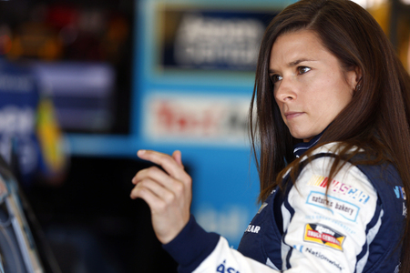 Concord, NC - Oct 06, 2016: Danica Patrick (10) hangs out in the garage during practice for the Bank of America 500 at the Charlotte Motor Speedway in Concord, NC.