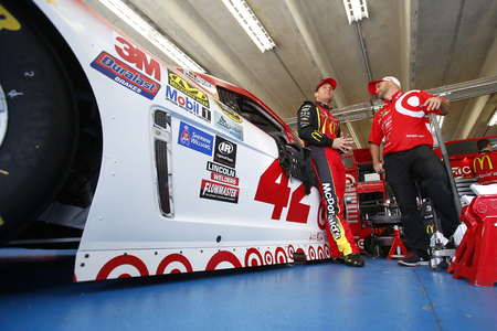 nscs: Concord, NC - Oct 06, 2016: Jamie McMurray (1) gets ready to practice for the Bank of America 500 at the Charlotte Motor Speedway in Concord, NC.