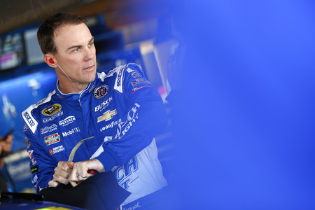 va: Martinsville, VA - Oct 28, 2016: Kevin Harvick (4) hangs out in the garage during practice for the Goodys Fast Relief 500 at the Martinsville Speedway in Martinsville, VA. Editorial