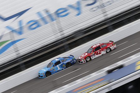 nscs: Martinsville, VA - Oct 30, 2016: Kyle Larson (42) battles for position during the Goodys Fast Relief 500 at the Martinsville Speedway in Martinsville, VA. Editorial