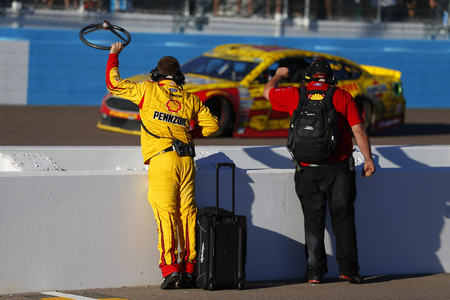 Avondale, AZ - Nov 13, 2016: Joey Logano (22) wins the Can-Am 500(k) at the Phoenix International Raceway in Avondale, AZ. Editorial
