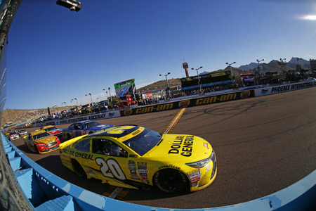 Avondale, AZ - Nov 13, 2016: Matt Kenseth (20) battles for position during the Can-Am 500(k) at the Phoenix International Raceway in Avondale, AZ.