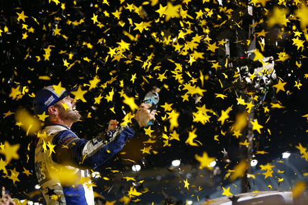 nscs: Homestead, FL - Nov 20, 2016: Jimmie Johnson (48) wins the Ford EcoBoost 400 and the 2016 NASCAR Sprint Cup Championship at the Homestead-Miami Speedway in Homestead, FL.