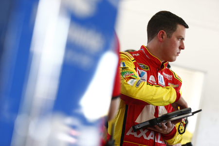 Homestead, FL - Nov 18, 2016: Alex Bowman (88) hangs out in the garage during practice for the Ford EcoBoost 400 at the Homestead-Miami Speedway in Homestead, FL. Editorial
