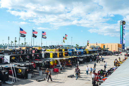 nscs: Homestead, FL - Nov 18, 2016: A general view of the racetrack   during the Ford EcoBoost 400 weekend at the Homestead-Miami Speedway in Homestead, FL. Editorial