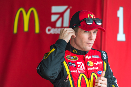 Homestead, FL - Nov 19, 2016: Jamie McMurray, driver of the #1 McDonalds Chevy, gets ready for action  during the Ford EcoBoost 400 weekend at the Homestead-Miami Speedway in Homestead, FL. Editorial