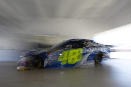 nscs: Homestead, FL - Nov 18, 2016: Jimmie Johnson (48) heads out to practice for the Ford EcoBoost 400 at the Homestead-Miami Speedway in Homestead, FL.