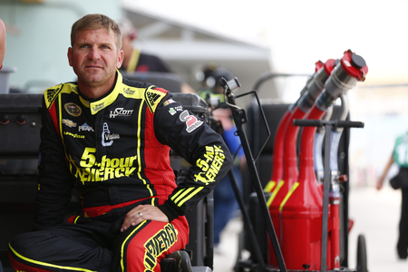 Homestead, FL - Nov 19, 2016: Clint Bowyer (15) hangs out in the garage during practice for the Ford EcoBoost 400 at the Homestead-Miami Speedway in Homestead, FL. Editorial