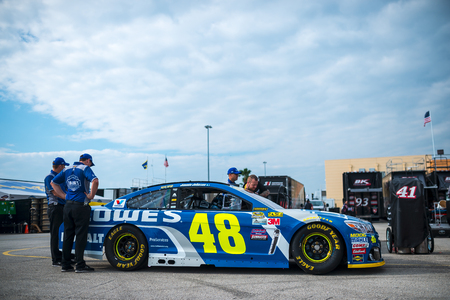 nscs: Homestead, FL - Nov 19, 2016: The #48 Lowes Chevy goes through tech inspection  during the Ford EcoBoost 400 weekend at the Homestead-Miami Speedway in Homestead, FL.