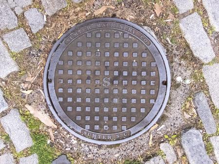 Manhole cover in the city of Charleston, South Carolina