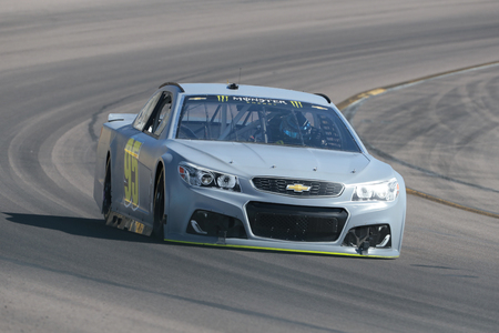95: January 31, 2017 - Avondale, Arizona, USA:  Michael McDowell (95) takes his Leavine Family Racing Chevrolet through the turns during a practice at the Phoenix Open Test at Phoenix International Raceway in Avondale, Arizona.