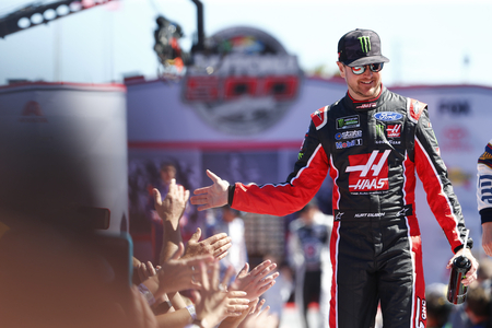 February 26, 2017 - Daytona Beach, Florida, USA: Kurt Busch (41) gets introduced to the crowd for the Daytona 500 at Daytona International Speedway in Daytona Beach, Florida.