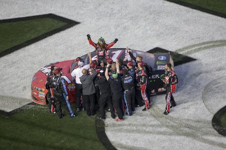 February 26, 2017 - Daytona Beach, Florida, USA: Kurt Busch (41) wins the Daytona 500 at Daytona International Speedway in Daytona Beach, Florida.