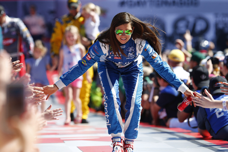 February 26, 2017 - Daytona Beach, Florida, USA: Danica Patrick (10) gets introduced to the crowd for the Daytona 500 at Daytona International Speedway in Daytona Beach, Florida. Editorial